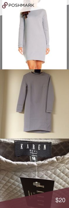 Gray Quilted Hi-Lo Dress Brand new with tags. Gray quilted Hi-Lo dress. Size M Dresses High Low