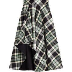 Alexander McQueen Tartan Midi Skirt