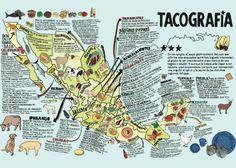 A Taco Map of Mexico, from La Tacopedia photo