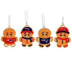 New England Patriots 2014 Resin Ginger Bread Man Ornaments
