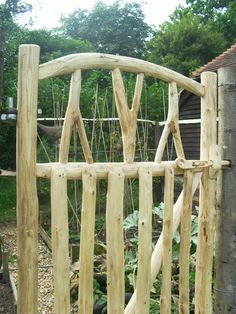 Cottage Garden gate made by the Creative Coppice Co. Handmade from sustainable renewable locally coppiced Sweet Chestnut.