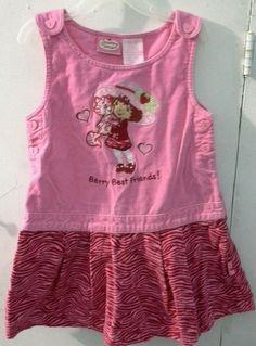 042a4e96a Toddler Girls 5T Strawberry Shortcake Dress Zebra Pink Cat Hearts  Sleeveless #StrawberryShortcake #EverydayHolidayDressyCasualParty Tutu