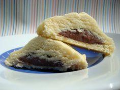 Nutella Filled Shortbread Cookies