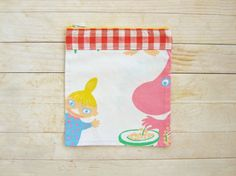 Moomin cosmetic bag make-up pouch pencils case by poppyshome