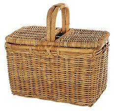 A classic picnic basket is a stylish way to carry and store your meals.