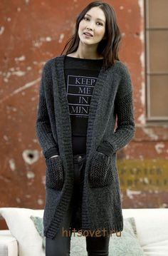Вязаное пальто спицами 2015 http://hitsovet.ru/vyazanoe-palto-spicami-2015/