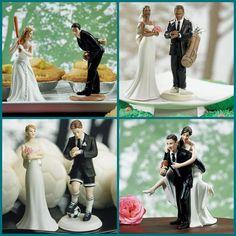 Wedding Cake Topper Manchester United Man U. Soccer Themed w/ Bridal ...