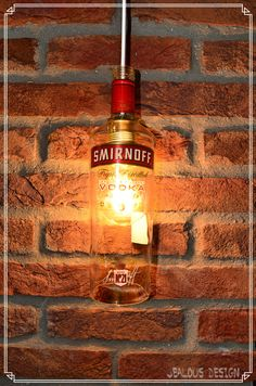Smirnoff Bottle Light Hängelampe Pendellampe von JealousDesign auf Etsy