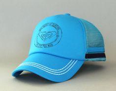New Women's Genuine Roxy Dig This Trucker Cap Snapback Mesh Hat Surf Blue #Roxy #Trucker