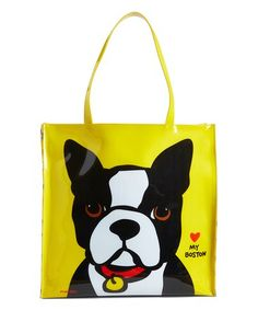 Love this Yellow Boston Terrier Tote on #zulily! #zulilyfinds