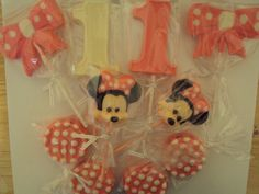 24 Minnie Mouse 1st Birthday Themed Hot by SweetlyIntoxicating, $36.00