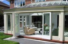 Town & Country Modern Conservatory. How To Design & Plan A Conservatory....here is a nice one that could work H.