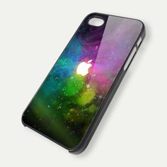 Apple Galaxy plastic case looks so cool! I love how it also still has the apple logo on the case like if you wouldn't have a case on