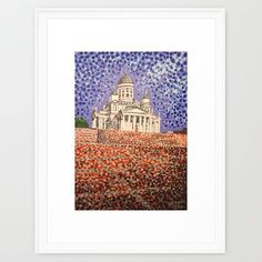 Sold!!! - Thanks to the buyer of this 'Helsinki Cathedral' Framed Art Print from the Society6 website. #helsinki #finland #cathedrals #art #prints #church #white #paintings #finnish #dots #hoganfinland #artists #finlandia #pointillism #helsingfors #famousbuildings #finn #society6 #shareyoursociety6 #s6prints
