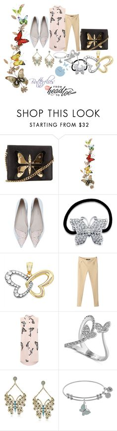 """""""Butterflies From Head to Toe"""" by michelle858 ❤ liked on Polyvore featuring Gucci, Benzara, Sophia Webster, BERRICLE, WearAll, Effy Jewelry, Betsey Johnson, Diamantini & Domeniconi, Summer and flats"""