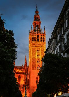 Walking up to the top of the Giralda tower at the Seville Cathedral is on my list of things to do!