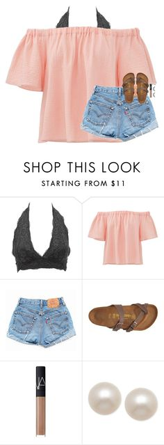 """""""playing my opinion on! comment below & ill answer it in the description!"""" by classynsouthern ❤ liked on Polyvore featuring Charlotte Russe, Rebecca Taylor, Levi's, Birkenstock, NARS Cosmetics, Honora and Sephora Collection"""