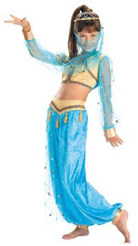 Girls Mystical Genie Costume - Belly Dancer Costumes