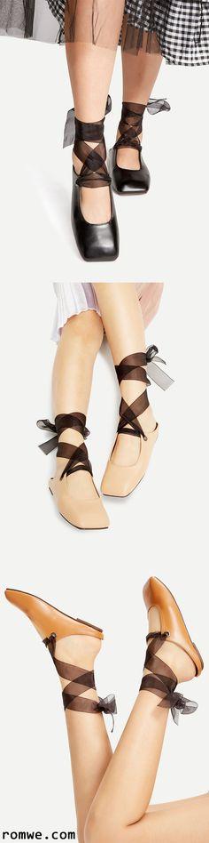 Lace Up Ballet Flats