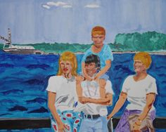 "'Family Vacation' by Herman McClenton | $250 | 30""w x 24""h | Original Art | http://www.arttwo50.com/buy/art/family-vacation"