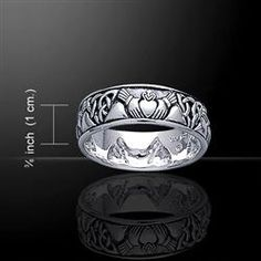 A love to last a lifetime Celtic Knotwork Claddagh Sterling Silver Ring Celtic Wedding Rings, Celtic Rings, Wedding Bands, Wedding Things, Wedding Stuff, Dream Wedding, Wedding Ideas, Silver Claddagh Ring, Claddagh Rings