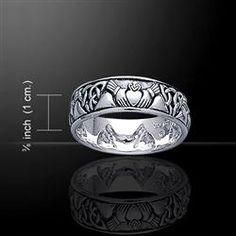 mens celtic claddagh ring claddagh celtique anneaux celtiques claddagh ...