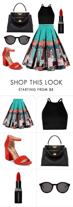 """Untitled #50"" by bettina-agoston on Polyvore featuring Boohoo, Sam Edelman, Fendi, Smashbox and Thierry Lasry"