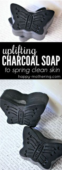 Do you know that charcoal soap has detox benefits for the skin? Our DIY melt and pour activated charcoal soap bar recipe uses the best natural ingredients to make a homemade face and body soap without lye. #charcoalsoap #diybeauty #activatedcharcoal #charcoalbeauty #detoxsoap #homemadesoap via @happymothering