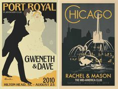 Vintage Wedding Posters - genius!