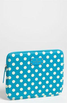 playful polka dots! kate spade new york 'la pavillion' iPad sleeve available at Nordstrom