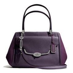 The Madison Madeline East/west Satchel In Spectator Saffiano Leather from Coach