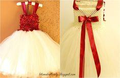 DIY No Sew Tutu Dress. DIY Flower Girl Dress. DIY Floral Tutu Dress. DIY No Sew Dress.