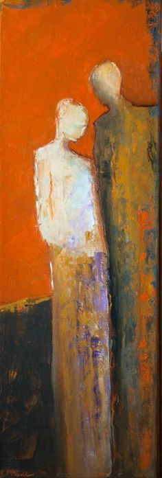 """""""Commitment"""" by Shelby McQuilkin abstract figurative, contemporary figurative, bold colors, contemporary artwork,"""