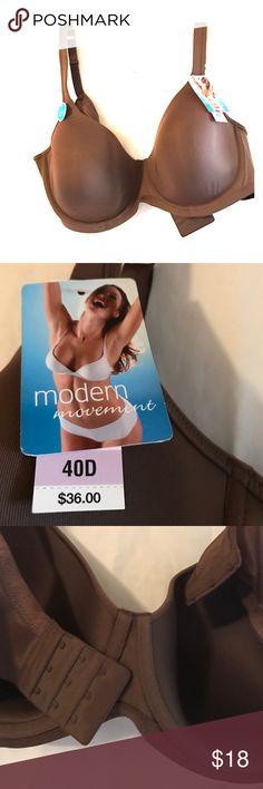 ❤️️FINAL SALE❤️️ NWT Modern Movement Bra Chocolate colored t-shirt bra Modern Movement Intimates & Sleepwear Bras