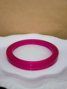 Resin Fushia ( pink ) thin bangle Handmade by MarluDesignz on Etsy https://www.etsy.com/listing/178466335/resin-fushia-pink-thin-bangle-handmade
