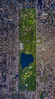 Wow! Looking from a height gives you a better idea of the impact. Image above Central Park.