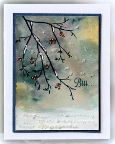 A cold winter day is the perfect time to send out a card to a friend, or family member you have not been in contact with for a while. I am pretty sure it would brighten up the recipient's day, and put a smile on their face. This beautiful card was created by Birgit Edblom From a post by Leann Ostergaard