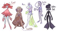 Peals are servant gems right, well what about the idea of mostly organically made gems (from the ocean) being servants too? So decided to draw a few! Nacres would be on top of the servant gem. Perla Steven Universe, Pink Diamond Steven Universe, Steven Universe Characters, Universe Art, Digital Art Girl, Character Art, Character Ideas, Character Design Inspiration, Amazing Art
