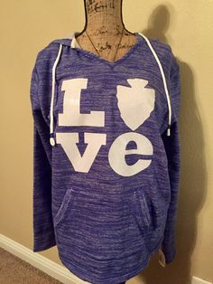 Lake Arrowhead LOVE sweatshirt made with white glitter heat transfer vinyl HTV with Cricut.
