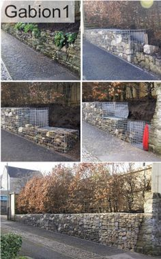 Before during and after shots of the gabion retaining wall constuction http://www.gabion1.co.uk
