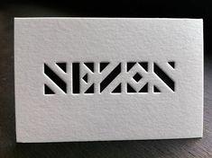 Badcass – – Page 6 de 50 Design & letterpress - Visitenkarten Design Elegant Business Cards, Cool Business Cards, Business Card Design, Typography Alphabet, Typography Prints, Id Design, Logo Design, Noctis, Letterpress Business Cards