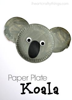 Paper Plate Koala Kid Craft | I Heart Crafty Things