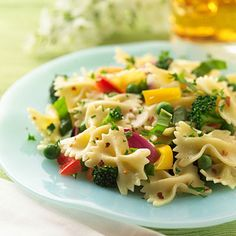Vegetarian Pasta Summer Salad - so dang good