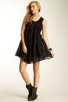 Everyday Chic: Black Boutique  Free People Mystic Oracle Trapeze Dress @ Hautelook