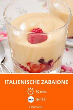 Italienische Zabaione - smarter - Kalorien: 194.74 Kcal - Zeit: 10 Min. | eatsmarter.de