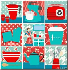 2014 Sew Kitschy Free Quilt BOM Patterns by Quiet Play