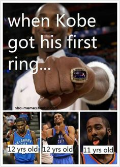 Holy crap.. When Kobe got his first ring..