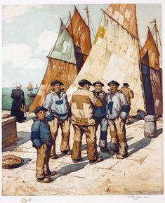 Tavik František Šimon - Fishermen of Concarneau, Brittany