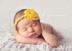 newborn girl photo - love this pose