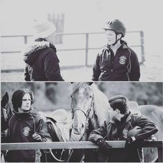We also had AMAZING horse-riding doubles. They did our stunts and jumping for us, not only because they were much better than us, but because it helped keep us safe! Here are @manubelpa and my doubles! @nickelodeontv #rideonnickelodeon #countdownwithk #day4 #thehorses #ride
